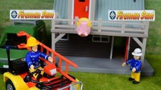 getlinkyoutube.com-Fireman Sam Video peppa pig Episodes Fire engine Fire truck Feuerwehrmann Sam