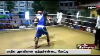 State level women boxing at Thanjavur