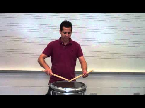 Marching Snare Drum Posture
