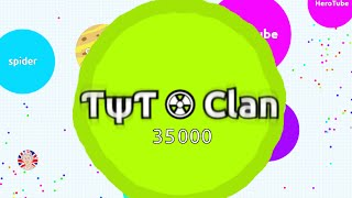 getlinkyoutube.com-ƬψƬ ☢ Clan Gameplay 35,000 Mass // Agario TYT Clan