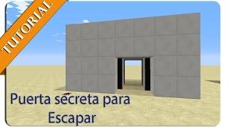 getlinkyoutube.com-Puerta Secreta Con un punto de Redstone para Escapar