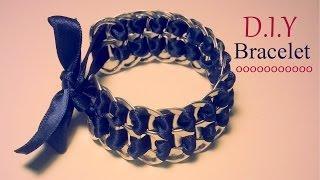 getlinkyoutube.com-Création D.I.Y Le bracelet capsules de canettes et ruban