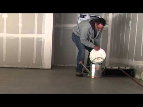 How to Seal or Glaze Concrete Garage Floor using Behr Wet Look Sealer Hi Gloss