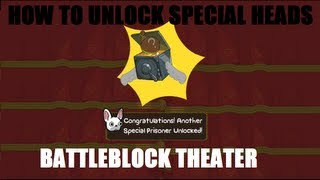 "getlinkyoutube.com-BattleBlock Theater - How To Unlock Special Heads ""Star Heads"""