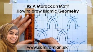 getlinkyoutube.com-#2 A Moroccan Motif - How to draw Islamic Geometry