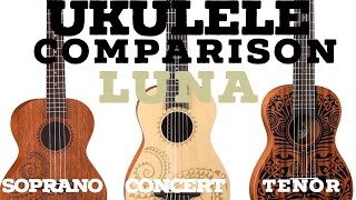 getlinkyoutube.com-(2016) Ukulele Comparison - Tenor VS Concert VS Soprano (High Quality)