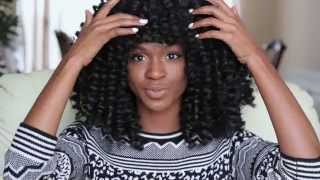 getlinkyoutube.com-How to make a Marley/Afro twist Crochet Wig with Bangs (protective style tutorial)