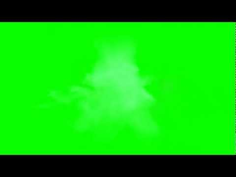 Blue Muzzle Flare Green Screen