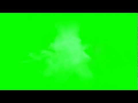 Blue Muzzle Flare Green Screen