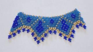 getlinkyoutube.com-Sarubbest - Campione di collana con perline creato usando la tecnica Netted