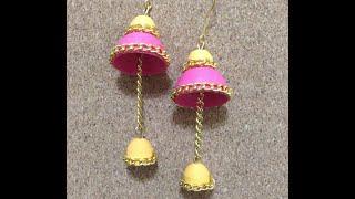 getlinkyoutube.com-Quilling Earrings Antique