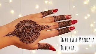 getlinkyoutube.com-Intricate Mandala Henna tutorial | Henna Art by Aroosa