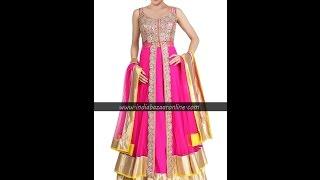 getlinkyoutube.com-Beautiful Designer Anarkali Dresses at Indiabazaaronline
