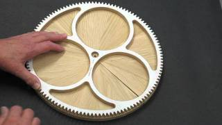 getlinkyoutube.com-Solaris Clock - Segmented Wood Wheels