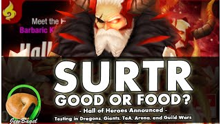 getlinkyoutube.com-SUMMONERS WAR : Surtr the Fire Barbaric King - Good or Food? - HoH Announced