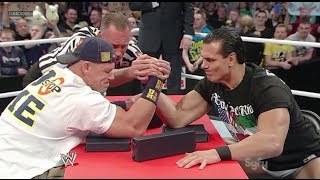 getlinkyoutube.com-WWE Smackdown 11/15/13 John Cena ARM WRESTLES Alberto Del Rio Live Commentary