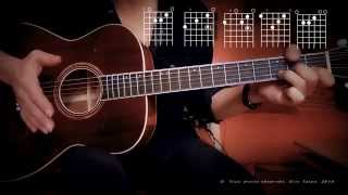 Babe, I'm Gonna Leave You - led zeppelin - tuto guitar - fingerstyle lesson