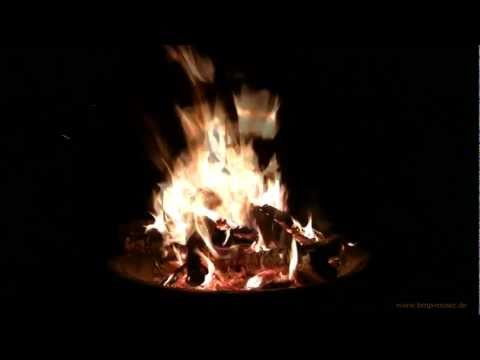Campfire HD 1080p - 15 Minutes for Relaxation & Meditation - Nature Sound - burning wood