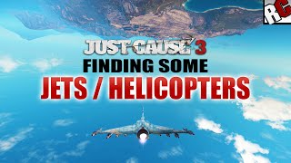 getlinkyoutube.com-Just Cause 3 - How to find some Fighter Jets and Attack Helicopter