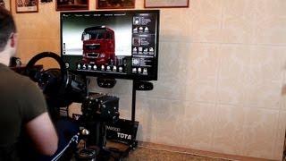 getlinkyoutube.com-Euro truck simulator 2/trustmaster t500/homemade cocpit