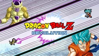getlinkyoutube.com-Dragon Ball Z Devolution: Super Saiyan God Super Saiyan Goku vs. Golden Frieza!