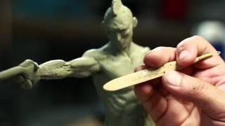 getlinkyoutube.com-Sculpture Techniques - How to Sculpt a Humanoid Maquette with Jordu Schell - PREVIEW
