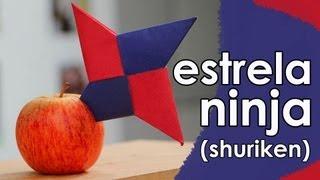 getlinkyoutube.com-Estrela ninja de origami (shuriken)
