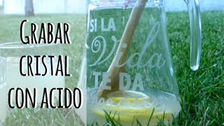 getlinkyoutube.com-Cómo grabar cristal con ácido - Personaliza tu vasos o jarras
