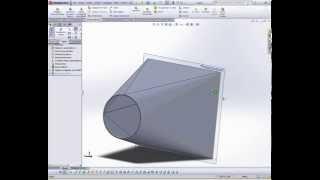 getlinkyoutube.com-SolidWorks. Arkusz blach przejście koło kwadrat.