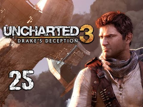 "Uncharted 3 Walkthrough - Part 25 ""STOWAWAY"" (Let's Play, Playthrough)"