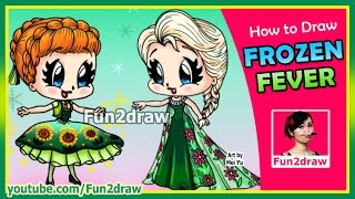 getlinkyoutube.com-How to Draw Anna Elsa Frozen
