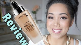 NEW LANCOME Nude Miracle foundation first impression review - itsjudytime