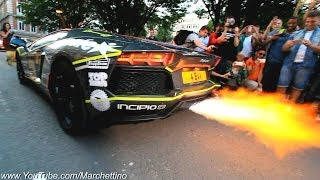 getlinkyoutube.com-Lamborghini Aventador Epic Flamethrower Exhaust!