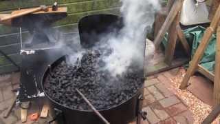 getlinkyoutube.com-Blacksmithing - Heyden Allball Portable Forge