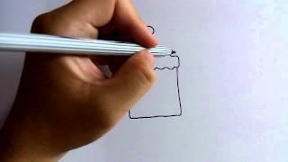 getlinkyoutube.com-วาดการ์ตูนกันเถอะ สอนวาดการ์ตูน เค้กสี่เหลี่ยม