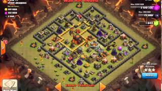 getlinkyoutube.com-[WAR 51] TH9 vs TH10 - Mass Witch 3 Star