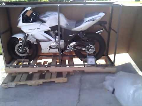 Sunny Sports Chinese 250cc rtc sportbike unpacking.wmv