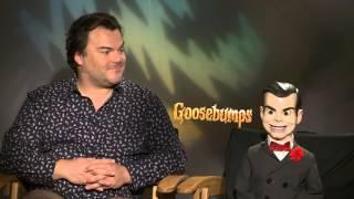 getlinkyoutube.com-Goosebumps: Interview Jack Black and Slappy