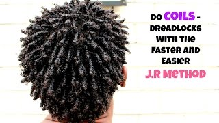 getlinkyoutube.com-Men Hair: How To Coils / Dreadlock With The J.R METHOD - Fast & Easy