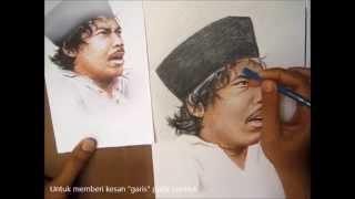 getlinkyoutube.com-Tutorial Menggambar Wajah Benyamin Sueb Dengan Pensil
