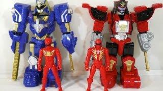 getlinkyoutube.com-Review: Deluxe Gosei Great & Legendary Zord Armor Rangers (Power Rangers Super Megaforce)