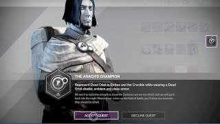 getlinkyoutube.com-Destiny - Taken King Exotic Faction Quest - Arach's Champion Quest