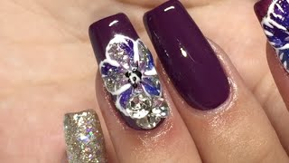 getlinkyoutube.com-Naio Nails Acrylic System Ft. Madam Glam Gel Polsihes