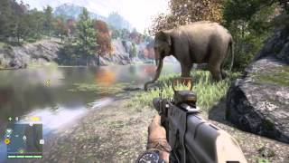getlinkyoutube.com-Far Cry 4 - Elephant vs Crocodile