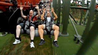 getlinkyoutube.com-Dinoconda POV S&S 4th Dimension Roller Coaster Dinosaurs Park China