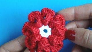 getlinkyoutube.com-Вязание цветка крючком Урок 9 - How to Crochet flower