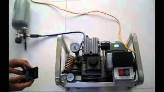 getlinkyoutube.com-300bar Mini Portable PCP Aircompressor,110V/220V Electric 4500psi High PressureAirCompressor