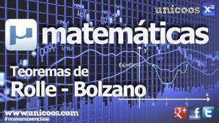 Imagen en miniatura para Teorema de Bolzano-Rolle unica raiz de una funcion