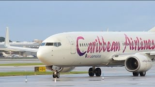 getlinkyoutube.com-SWEET Caribbean Airlines / Air Jamaica 737-800 Takeoff from Ft. Lauderdale [Runway 10L] 7/18/14