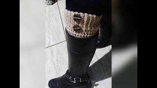 getlinkyoutube.com-Boot Cuff - Polaina para Botas / Glaucia Tamiossi